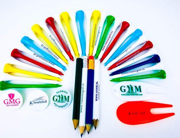Golfartikelen met logo