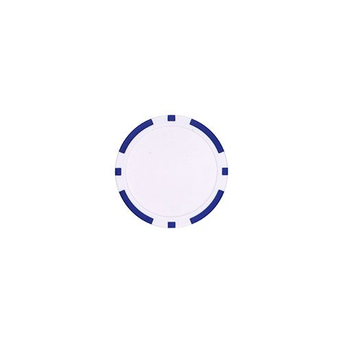 Pokerchip marker Blauw